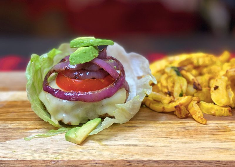 Lettuce Wrap Turkey Burger